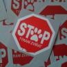 STOP týrání zvířat (7x7cm)
