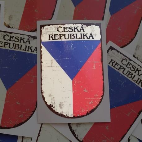 Vlajka ČR v erbu (4,5x7cm)